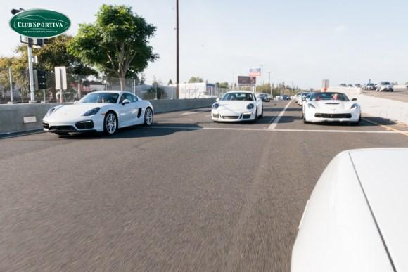 Porsche Cayman GTS takes off on a Porsche GT3 and C7 Z06 Vette