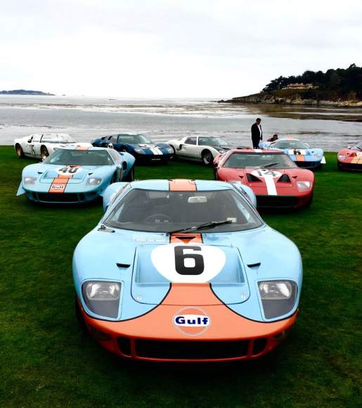 Ford GTs on Pebble Beach