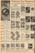 1941 Butler Brothers Catalog. Corning glass ornaments