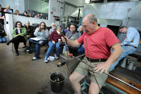 Bill Gudenrath demonstrates during a class at The Studio