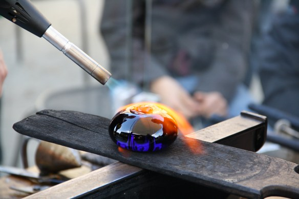 Steven and William's oversized glass bead