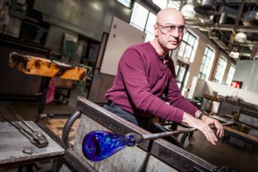 Local Corning Veterans had the opportunity to learn glassmaking at The Studio