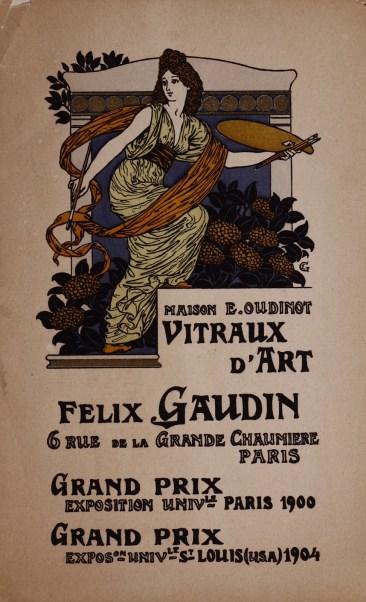 Vitraux d'art. Felix Gaudin, Paris, 1905-1910. Bib ID 55627.