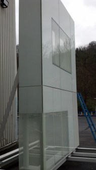 A look at how the exterior panels look with the window glass