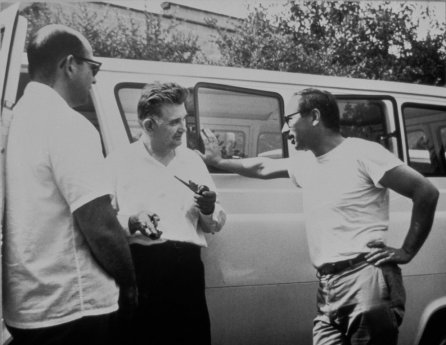 Norm Schulman, Dominick Labino, and Harvey Littleton in Toledo, 1962