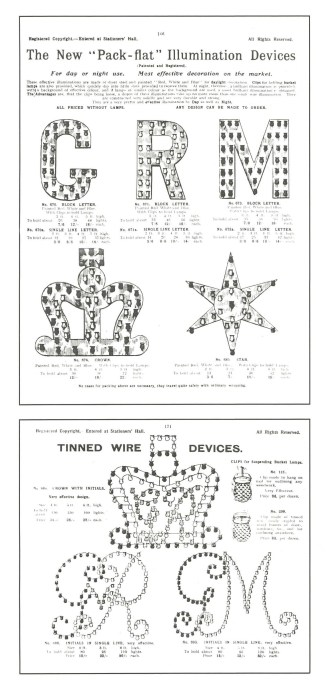 Tin forms made for pressed-glass lamps in honor of British coronations and jubilees. (From pg. 4 of The Glass Club bulletin, no. 151, Winter 1986-1987)
