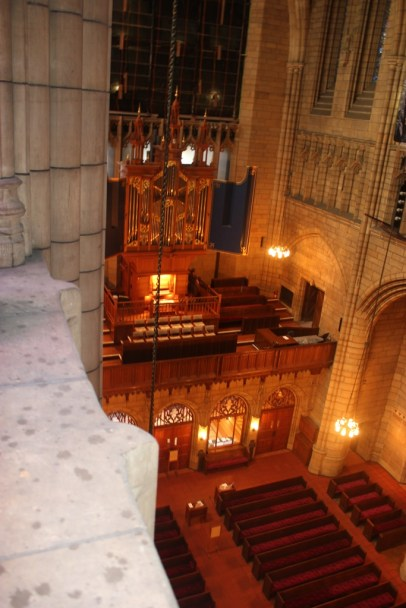 A view from the 60-foot-high catwalk!