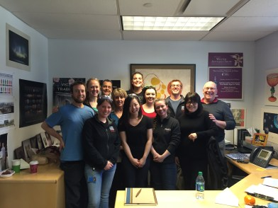 Amy, Bill, and the staff of The Studio today.