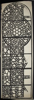 Paper stained glass window cartoon drawings for the Temple Emanu-El, New York City clerestory. Their stabilization was completed in the summer of 2016 at the Rakow Research Library.