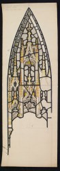 Wove paper cartoon for St. Mary's Church, Ajmer, India, BIB#163923.