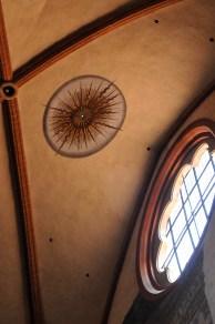 Oculus in the ceiling of San Petronio.