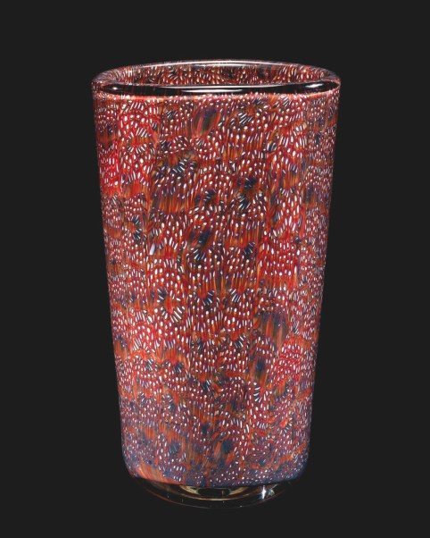 Murrine Mosaic Vase (58.3.12): Venetian glass from the mid-20th century, like this piece by Paolo Venini, often has a somewhat unstable composition.