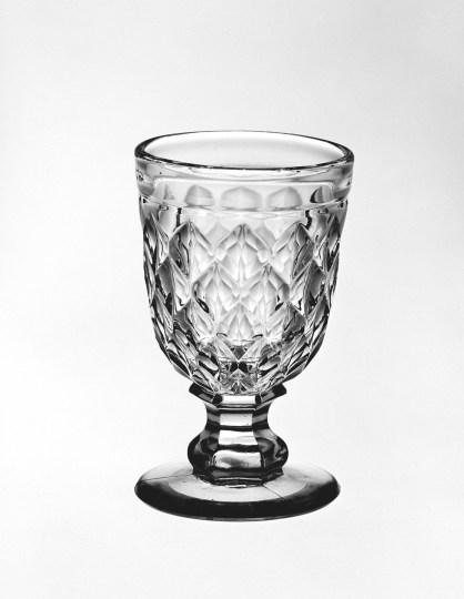 Divided Diamond Egg Cup, United States, about 1845-1870. 50.4.440.