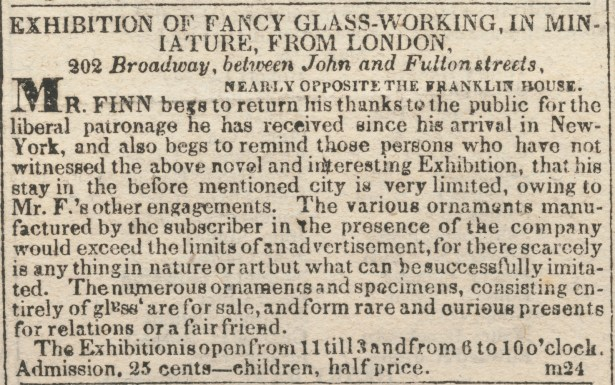 Advertisement for New York exhibition