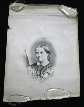A silver gelatin photograph of Anna Hinderer.