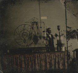 This is the earliest-known photographic image of a glass steam engine.
