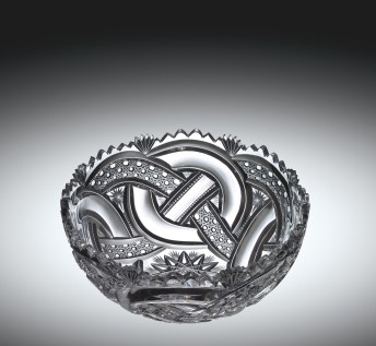 "Bowl in ""Crystal City"" or ""Wedding Ring"" Pattern, 1891-1895. J. Hoare & Company. The Corning Museum of Glass, Corning, New York (83.4.149, gift of Mr. and Mrs. J. T. Sisk)"