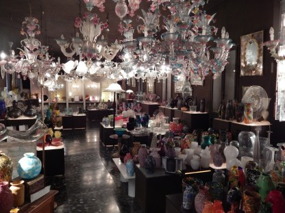 Representing 160 years of glass designs and production fills every inch of space at Fratelli Toso.