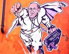 Pope Superman Mural