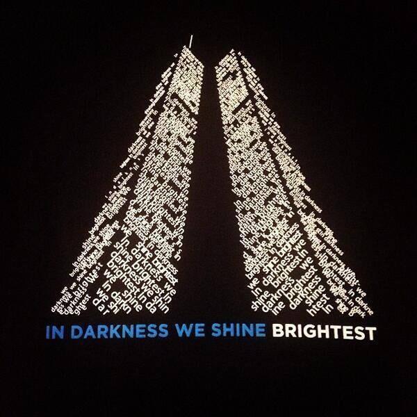 In darkness we shine brightest