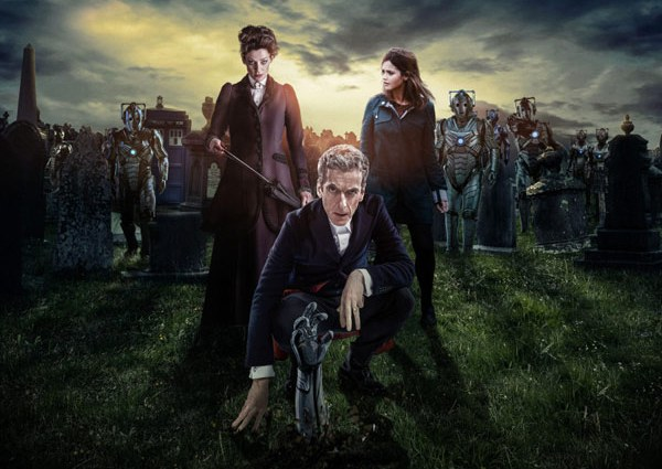 "Mossy, the Doctor, and Clara in ""Dark Water""/""Death in Heaven"""
