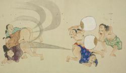The Fart War - using hand fans