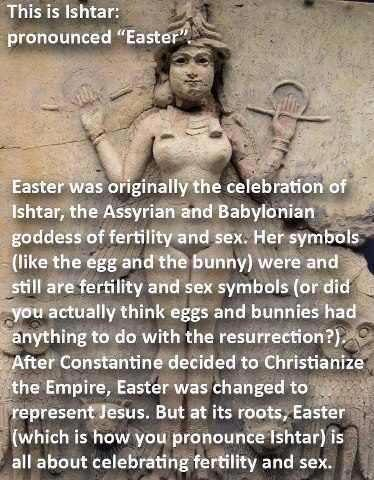 Erroneous meme about Ishtar and Easter.