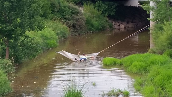 hammock over a river, gishwhes 2015