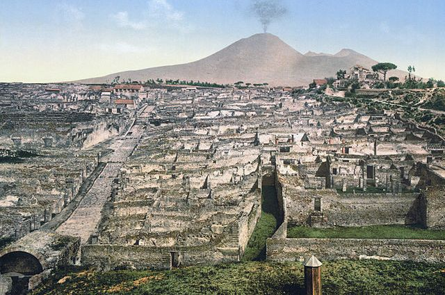 Pompeii excavation site