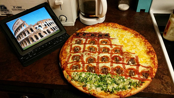 Colliseum on Pizza, gishwhes 2015