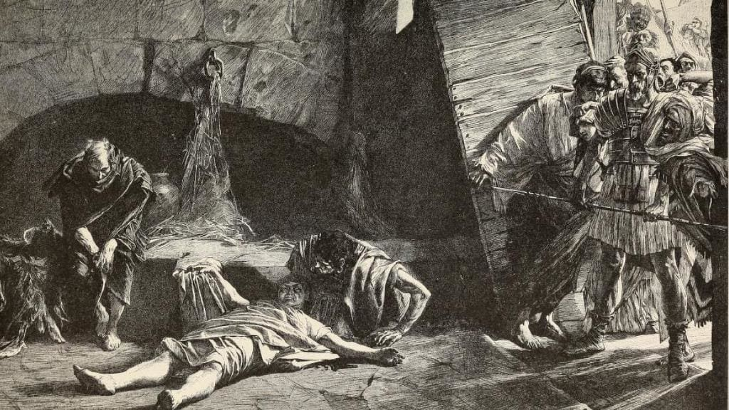 Death of Nero engraving