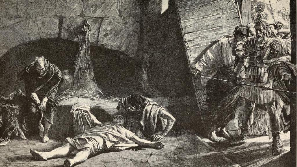 Death of Nero engraving