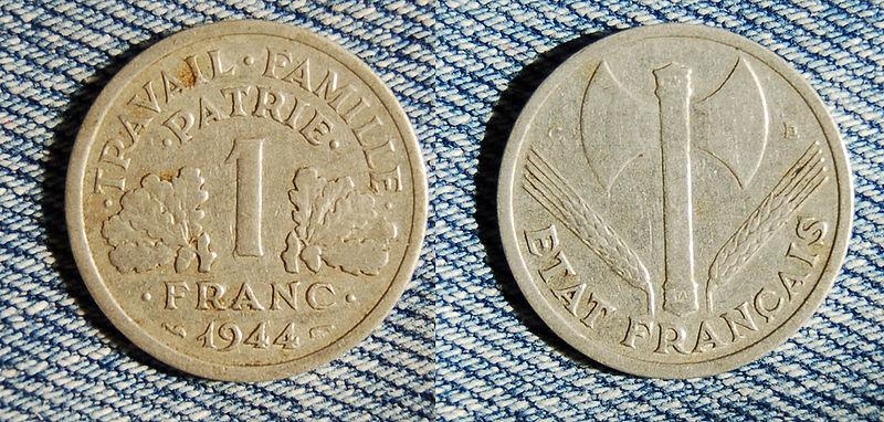 VIchy France Coin 1944