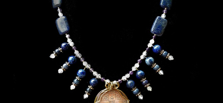 Coin jewelry with Victorian florin