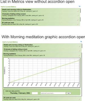 Metrics Accordian Example