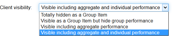 How much should group members see of group items?  It's up to you.