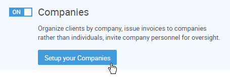 Turning on Companies