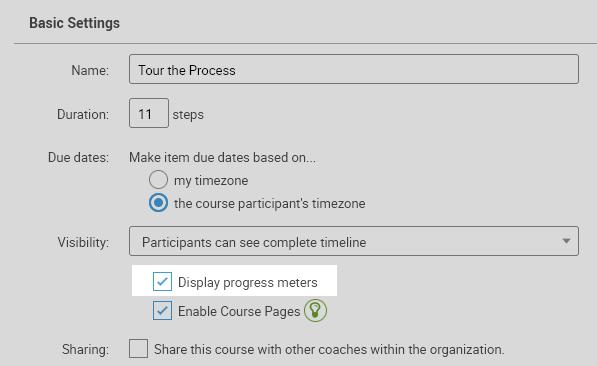 Enabling Progress Meters