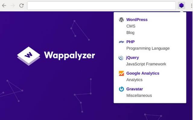 Wappalyzer chrome extension - codedthemes