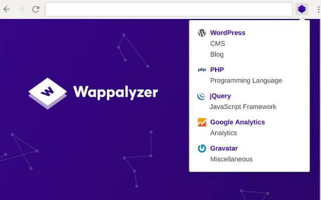 Wappalyzer chrome extension - codedthemes