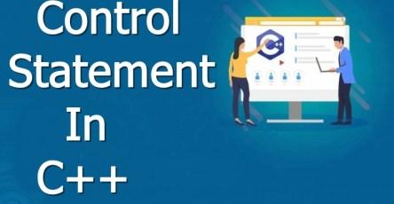 control statement in c plus plus