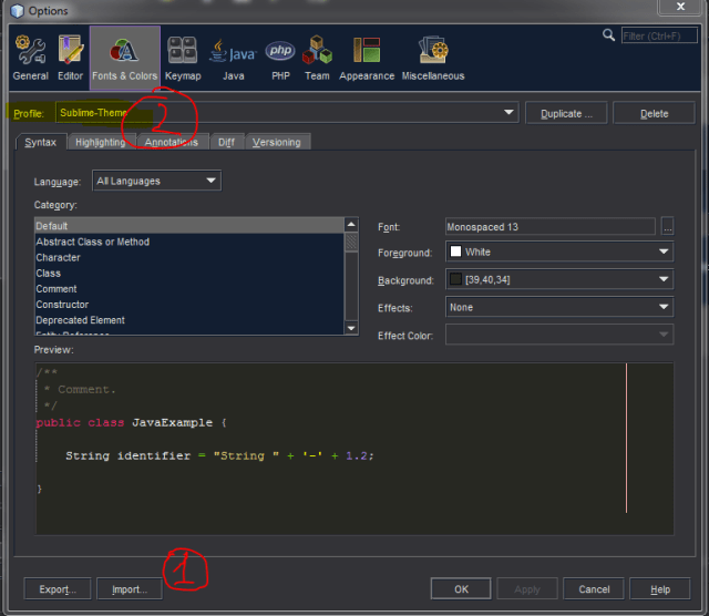 sublime-theme-for-netbeans