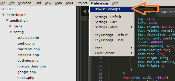 Sublime text browse packages