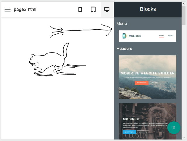 Mobirise - A WYSIWYG web designign tool