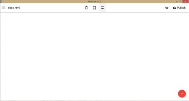 Mobirise-Default-start-screen
