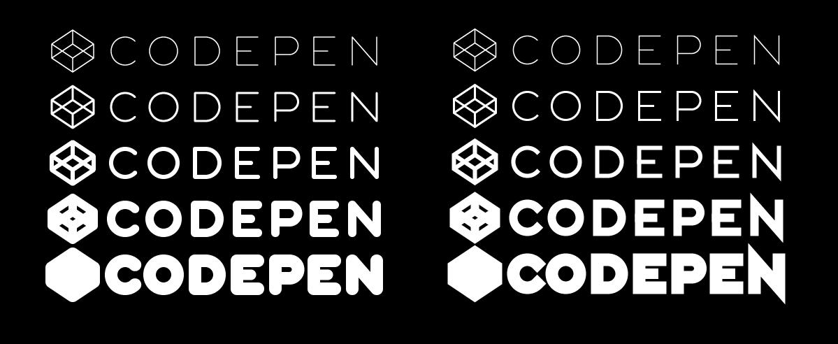 CodePen logo variations