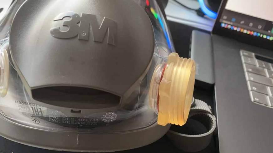 coezbay gmbh sla 3d printing screw thread on 3m 6000 m mask