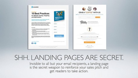 Landing pages turbo-charge your mailings.