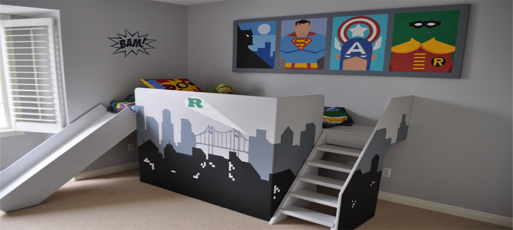 7 Super Cool Super Hero Themed Kids Bedrooms  Coldwell