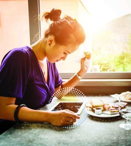 Corian Charging Surface Coffee Shop